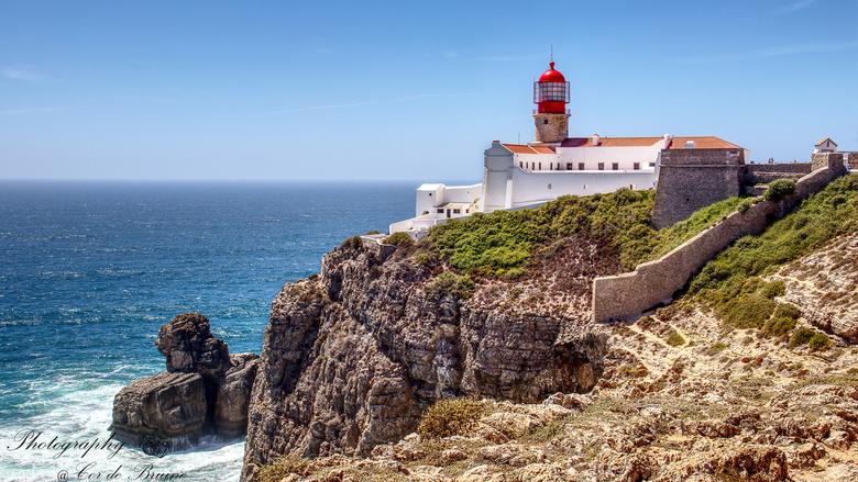 Cabo de Sao Vincente - Kaap Sint-Vincent, de meest tot de verbeelding sprekend plekje in Portugal.<br /> Het meest zuidwestelijke punt van Europa. Vo