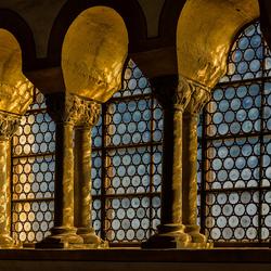venster in kasteel Wartburg
