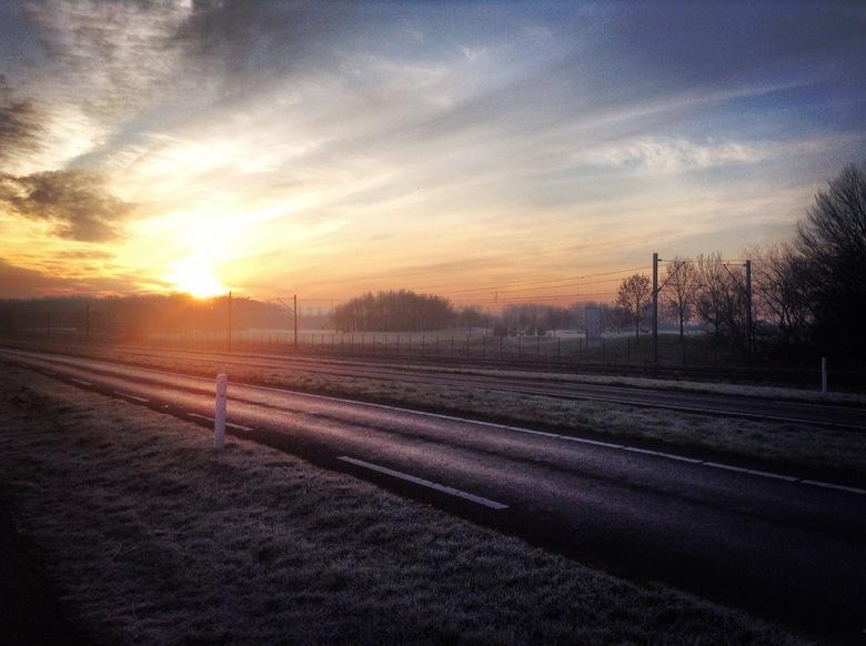 Zonsopgang in Zoetermeer