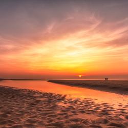 Sunset aan zee