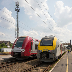 Athus (meest zuidoostelijk station in België)