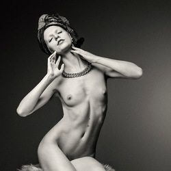 Nude Art With Kerchief