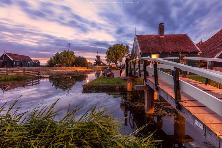 De brug van de Zaanse Schans