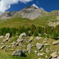 Uitzicht bij Col de Vars