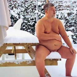 Cherubijn in de sneeuw