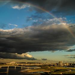 Regenboog boven Nijmegen