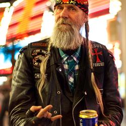 Oude rocker in Las Vegas