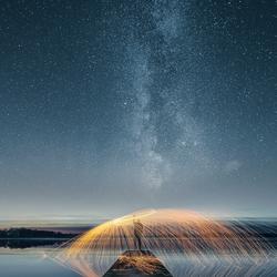 staalwollen onder de sterren (melkweg)