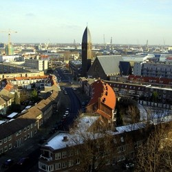 Vergezicht Schiedam-Rotterdam