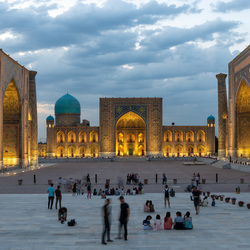 Het Registan in Samarkand