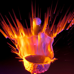 Waterdruppel   In vuur en vlam