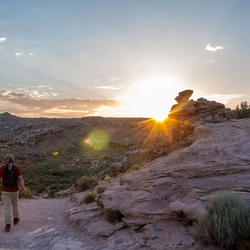 Zonsondergang in Arches NP