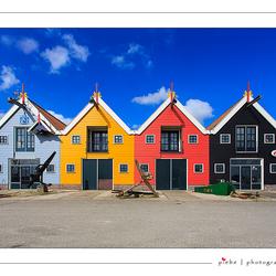 De gekleurde huisjes van Zoutkamp