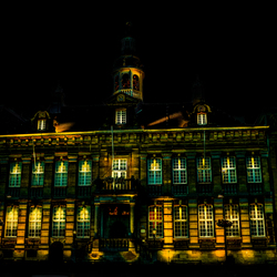 Stadhuis Roermond by night