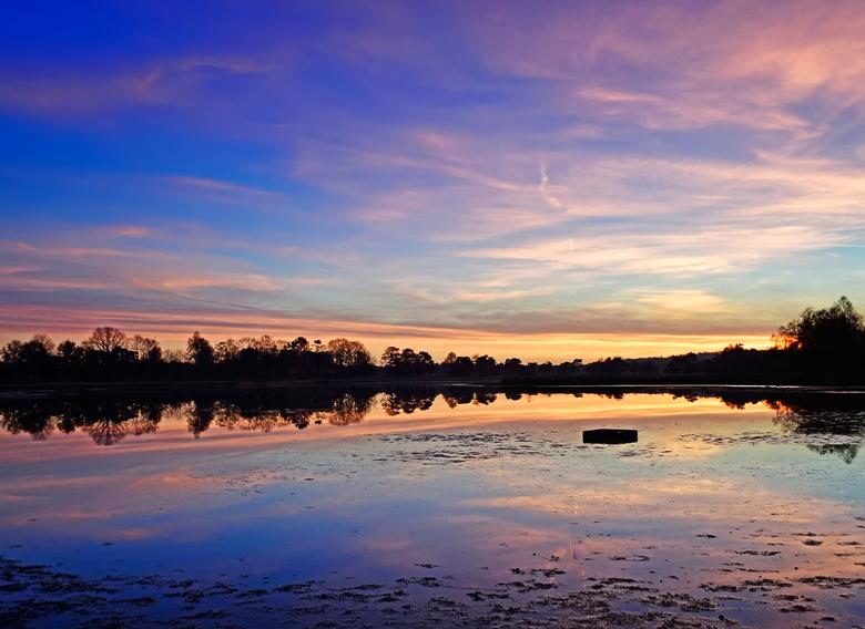 Blue sunset - Iedereen weer bedankt voor alle leuke en leerzame reacties op mijn vorige foto.<br /> <br /> Deze foto is genomen op het Leersumseveld