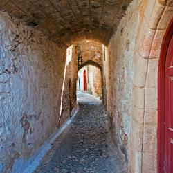 straatje in Rhodos