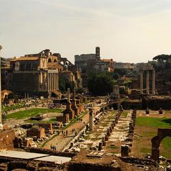 Rome bij ondergaande zon