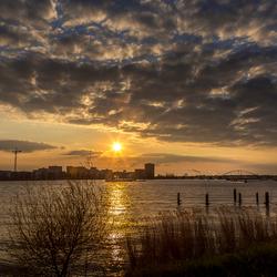 Zonsondergang Zeeburg Amsterdam