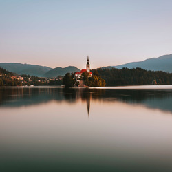 Sunrise at Lake Bled, Slovenia