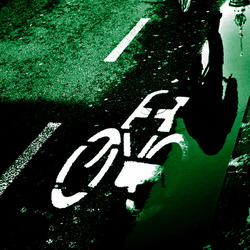 fietser in amsterdam