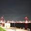 Verlichte brug in Rotterdam