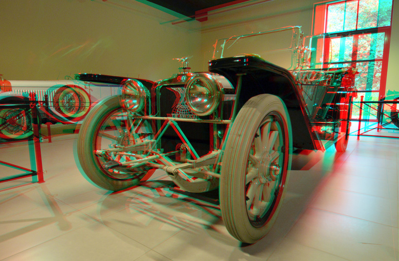 Louwman Automuseum 2019 3D - Louwman Automuseum 2019 3D<br /> American Underslung 644<br /> anaglyph stereo red/cyan  1914