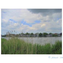 Zicht op rivier De Zaan