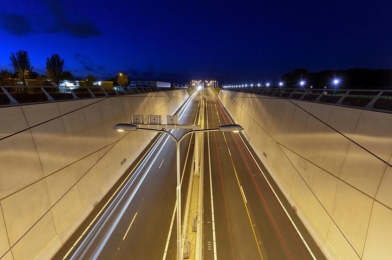 Middelburg n57 - De nieuwe n57 in Middelburg vanaf het aquaduct.