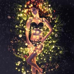 OMD06674NXLR-PSPLR - Xmas lights - Den Helder - model Robijn Suasso - fotograaf Hugo Verwijs (www.hugofoto.nl)