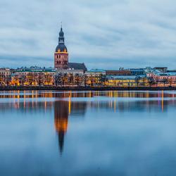Panorama van Riga, Letland