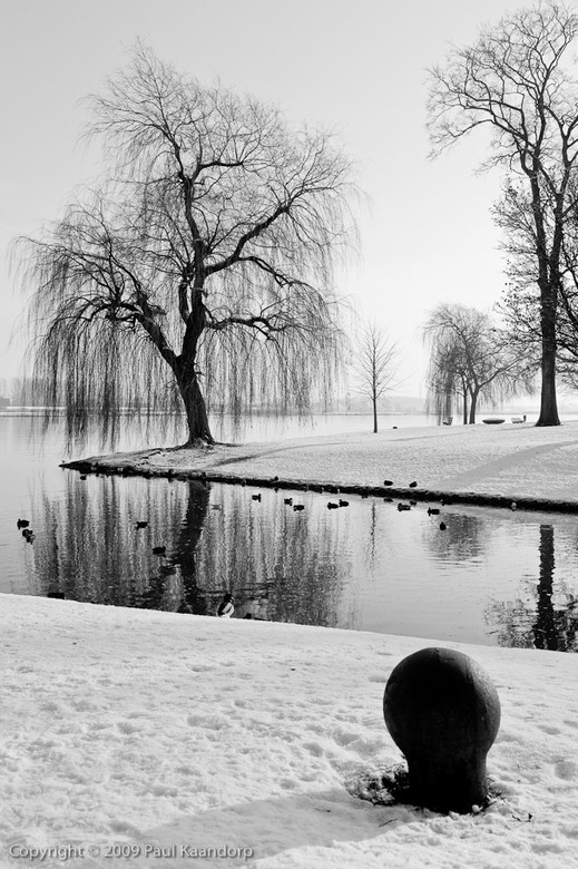 Langs de IJssel... z-w - Langs de IJssel... Zelfde foto als de vorige alleen nu omgezet naar zwart-wit