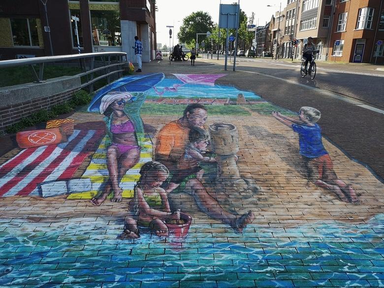 3d streetart in Den Helder -