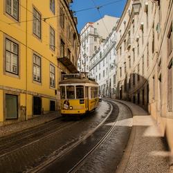 Tram Lissabon stad