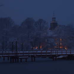 Slotkapel Egmond bij nacht