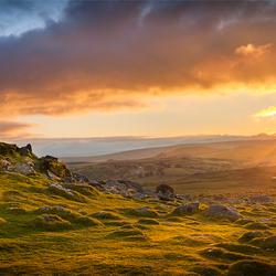 Sunset over Dartmoor NP (Klikken voor hele foto)