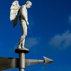 """WIM DELVOYE """"Pissende engel"""""""