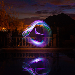 Lightpainting at the poo