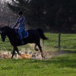 Leonie te paard
