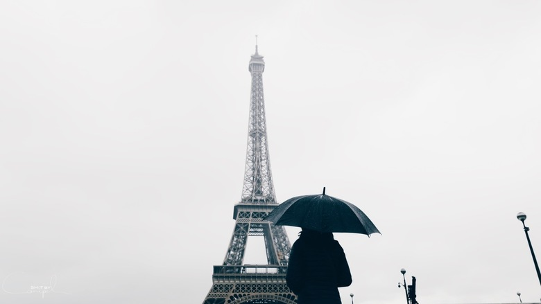 Rain in Paris.
