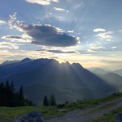 zonsondergang in Salzburgerland