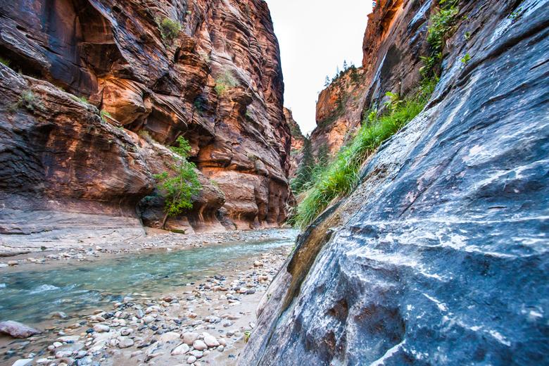 The Narrows - De smalste stukken in de Zion Canyons.