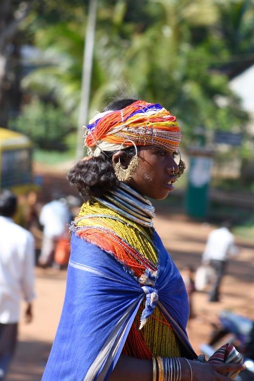 Bonda woman. - Portret van een vrouw van de Bonda tribe in Odisha India