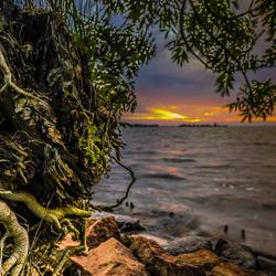 Zonsondergang bij Muiden, 23 juni