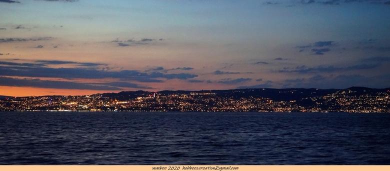 lac le leman du soir - lac leman du soir vue de lausanne
