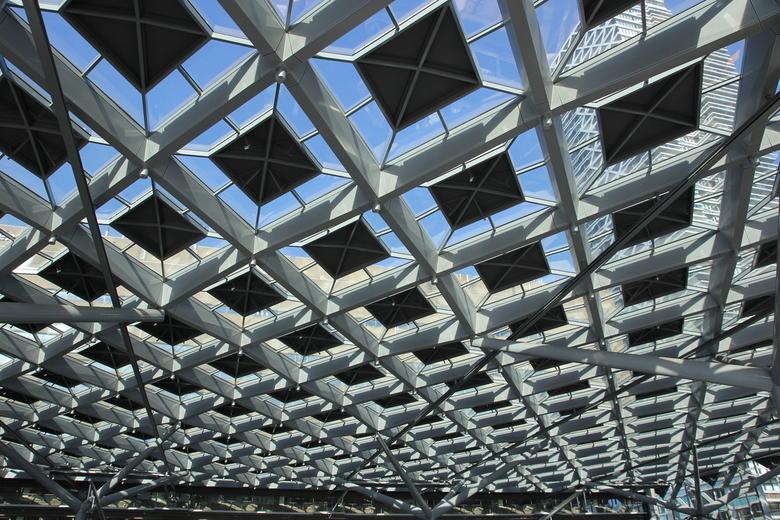 Het dak gaat eraf! - Dak van het station in Den Haag.