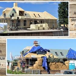 collage houten skelet bouw  Zwethkanaal  15 mei en 13 juli 2020