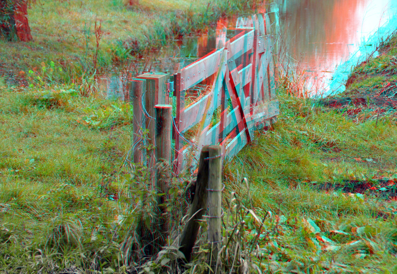 Ommoord Rotterdam 3D anaglyph - anaglyph stereo red/cyan<br /> Ommoordse veld