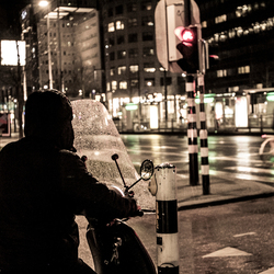 Waiting in the rain.