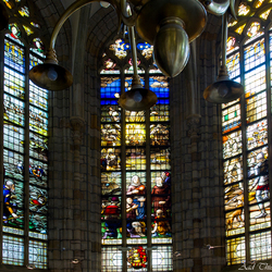 Glas in lood grote Kerk Dordrecht