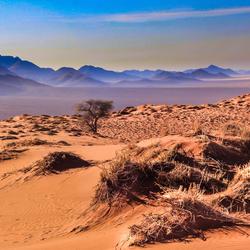 Namibie eindeloze verten